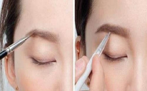 眉毛种植前后对比